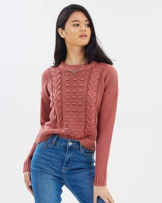 All About Eve Olivia Cable Knit Cropped Jumper