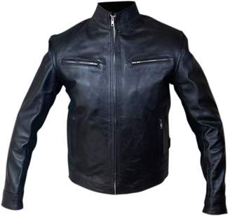 Diesel Feather Skin Mens Leather Jacket - Fast and Furious 6 Dominic Toretto Vin Black Leather Jacket
