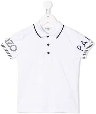 Kenzo logo sleeve polo shirt