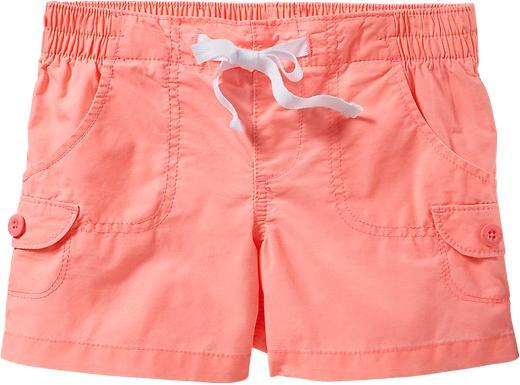 Old Navy Girls Lightweight-Canvas Camp Shorts