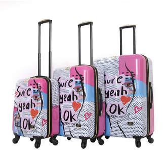 Halina Nikki Chalinau Sure 3 Piece Hard Side Spinner Luggage Set