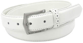 Stacy Adams 30MM Leather Belt with Pinhole Design