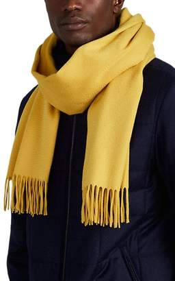 Loro Piana Men's Cashmere Flannel Scarf - Yellow