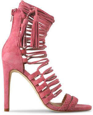 Wittner Ladies Shoes Pink Suede Heels