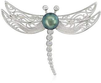 Bella Pearl Freshwater Dragonfly Brooch and Pin