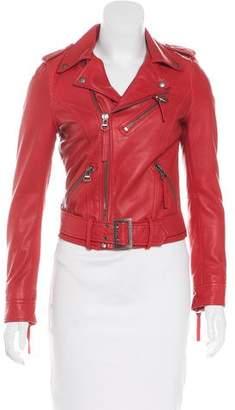 Linea Pelle Leather Biker Jacket