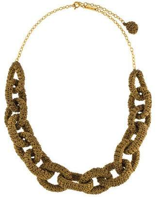 Marc Jacobs Woven Cord Chain Necklace