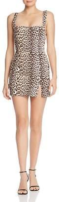 Bec & Bridge Super Freak Leopard Denim Mini Dress