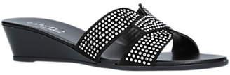 Carvela Comfort Sade Wedge Heeled Sandals, Black Suede