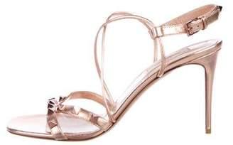 13a87b09c190 Valentino Rockstud Metallic Leather Sandals
