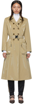 Fendi Beige Forever Belted Trench Coat