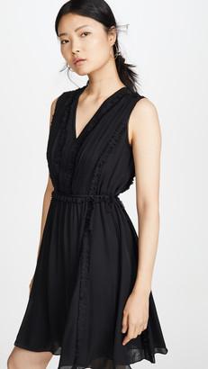 Jason Wu Grey Silk V Neck Dress
