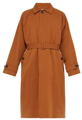 Acne Studios Oversized Cotton Trench Coat - Mens - Brown