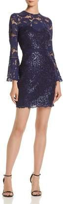 Tadashi Shoji Tadashi Petites Petites Bell-Sleeve Lace Dress - 100% Exclusive