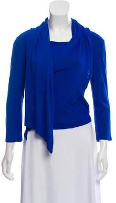 Versace Long Sleeve Wrap Sweater
