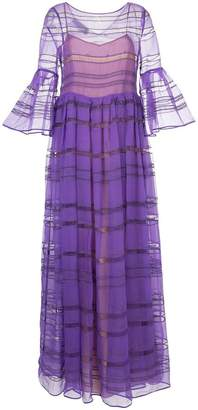 Rochas sheer panelled dress
