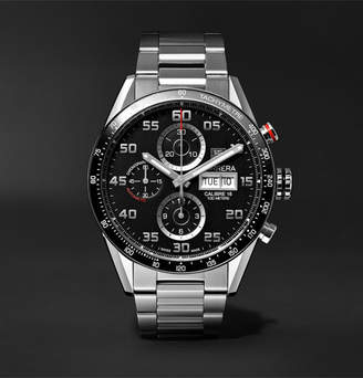 Tag Heuer Carrera Automatic Chronograph 43mm Polished-Steel Watch - Men - Black