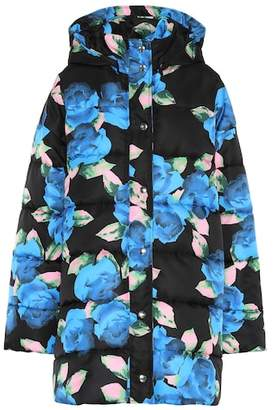 MSGM Floral-printed puffer coat