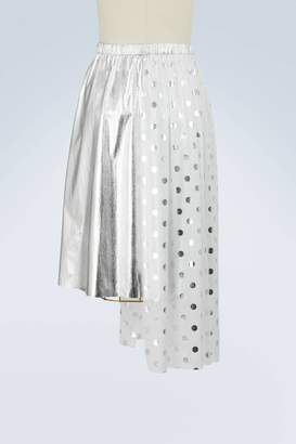 Asymmetric polka dot skirt