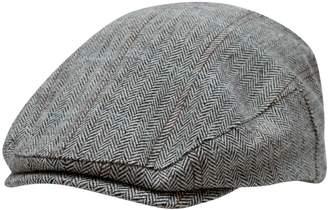 1670 Herringbone Flat Cap