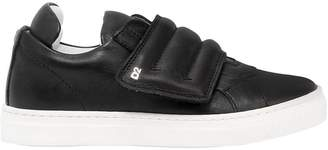 DSQUARED2 Padded Leather Strap Sneakers