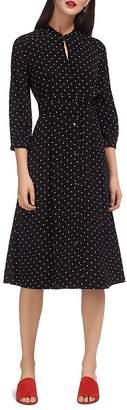 Whistles Kamala Polka-Dot Shirt Dress