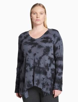 Calvin Klein plus size performance tie-dye v-neck tee