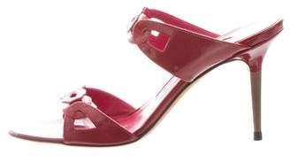 Manolo Blahnik Slide Patent Leather Sandals