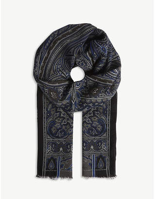 Etro Paisley print wool-cashmere scarf