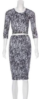 Nadia Tarr Knit Printed Skirt Set