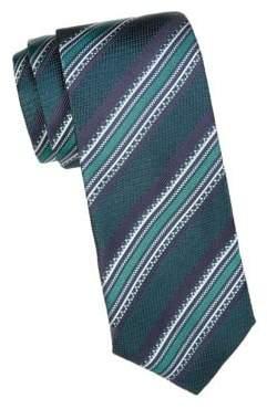 Canali Vintage Stripe Silk Tie