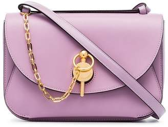 J.W.Anderson lilac chain-detail leather shoulder bag