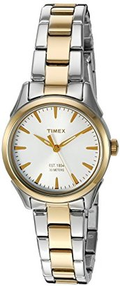 Timex Women's 'Chesapeake' Quartz Brass and Stainless Steel Dress Watch, Color:Silver-Toned (Model: TW2P819009J) $52 thestylecure.com