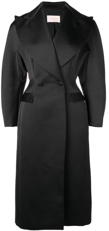 satin double breasted coat