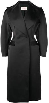 Christopher Kane satin double breasted coat