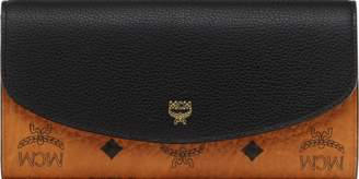 MCM Two Fold Wallet In Visetos Colorblock Leather