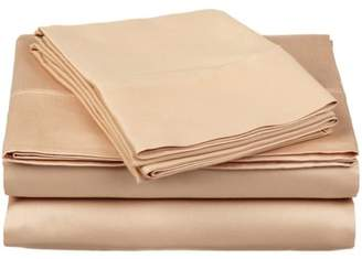 Impressions 300tc Egyptian Cotton Solid Sheet Set Superior 300 Thread Count Quality Long-Staple Combed Cotton Deep Pocket Solid Sheet Set