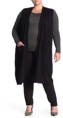 T Tahari Duster Sweater Vest (Plus Size)