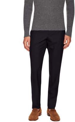 Fendi Wool Solid Flat Front Trouser