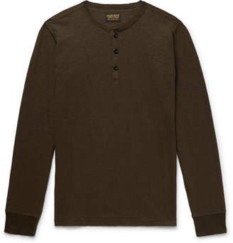 Jean Shop Henry Slub Cotton-Jersey Henley T-Shirt