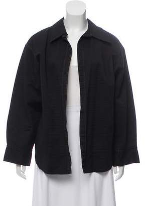 John Galliano Textured Open Front Shirt Jacket