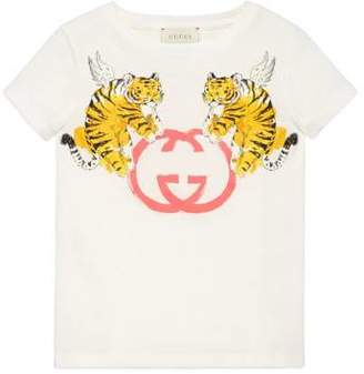 Gucci Children's T-shirt with winged tigers print