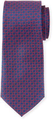 Neiman Marcus Men's Circle Pattern Silk Tie