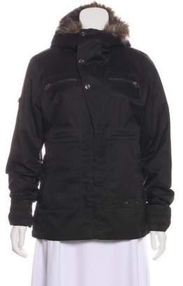 Burton Faux Fur-Trimmed Short Coat