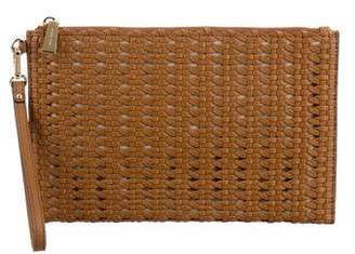 Michael Kors Woven Leather Clutch