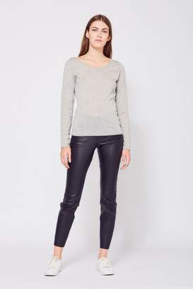 Amanda Wakeley Monroe Grey Cashmere Top