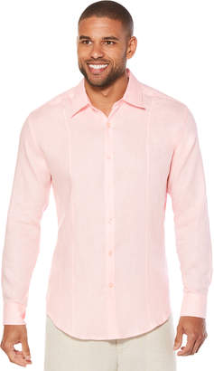 Cubavera Big & Tall 100% Linen Tuck Shirt