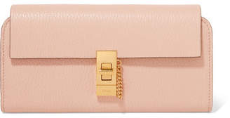 Chloé Drew Textured-leather Wallet - Pink