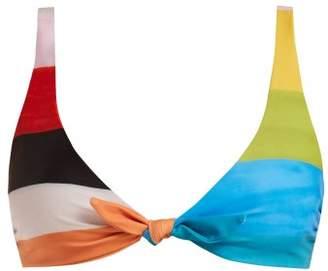 Mara Hoffman - Rio Plateau Print Tie Front Bikini Top - Womens - Multi
