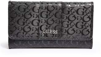 Factory GUESS Women's Ware Patent Logo Slim Wallet